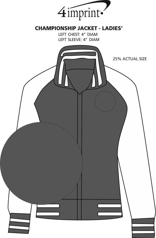 Imprint Area of Championship Jacket - Ladies'