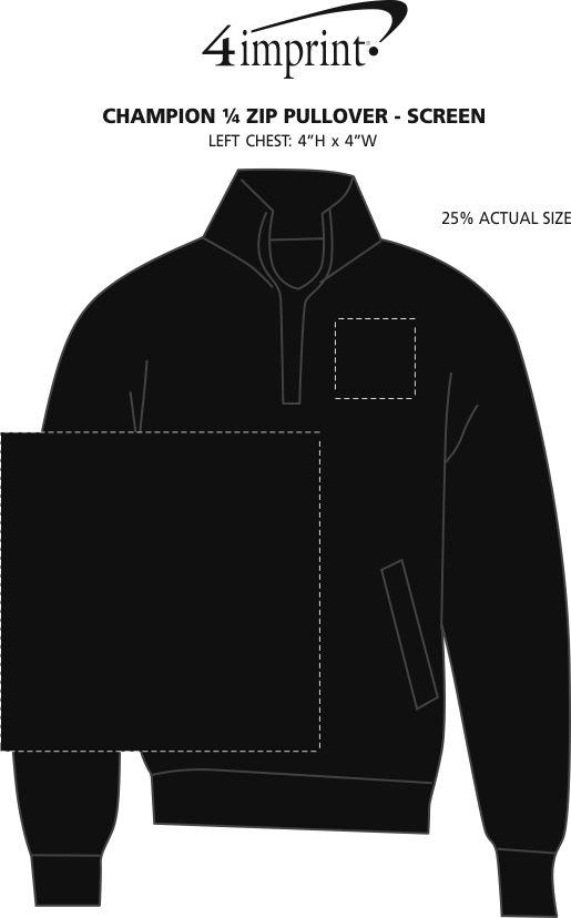 Imprint Area of Champion 1/4-Zip Pullover - Screen