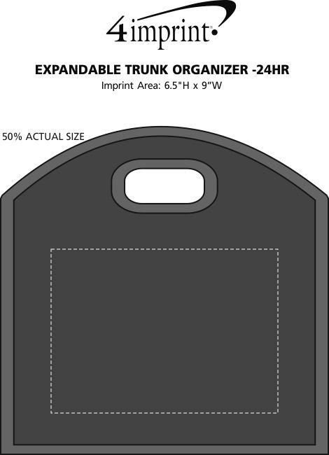 Imprint Area of Expandable Trunk Organizer - 24 hr