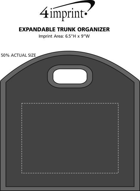 Imprint Area of Expandable Trunk Organizer