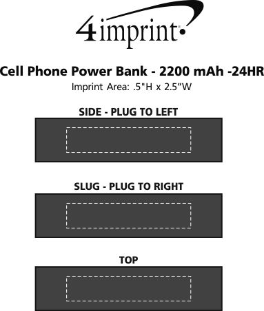 Imprint Area of Cell Phone Power Bank - 24 hr