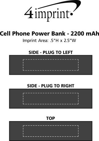 Imprint Area of Cell Phone Power Bank