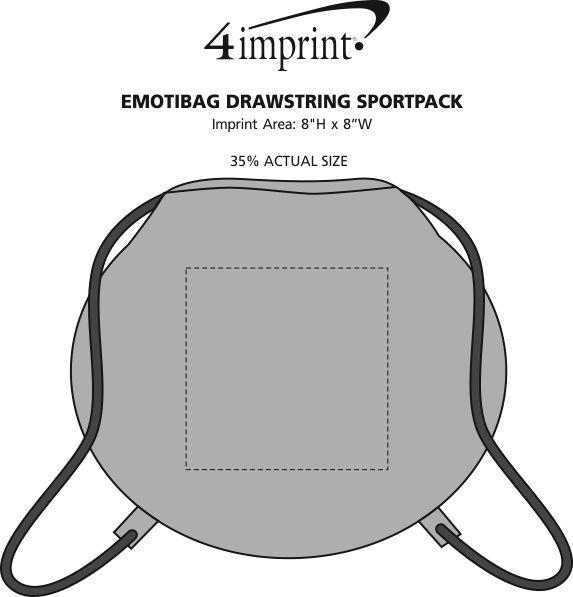 Imprint Area of EmotiBag Drawstring Sportpack