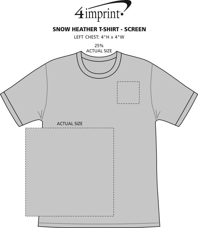 Imprint Area of Snow Heather T-Shirt - Screen
