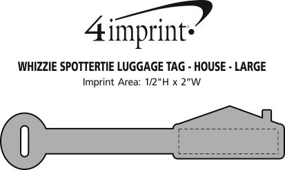 Imprint Area of Whizzie SpotterTie Luggage Tag - House - Large