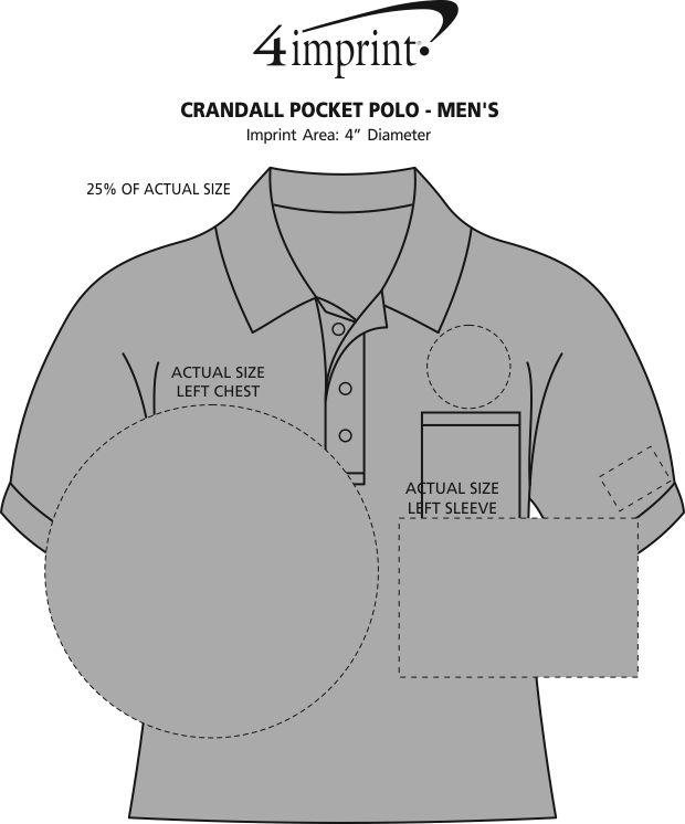 Imprint Area of Crandall Pocket Polo - Men's