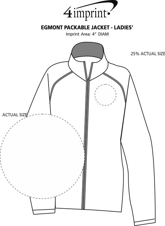 Imprint Area of Egmont Packable Jacket - Ladies'