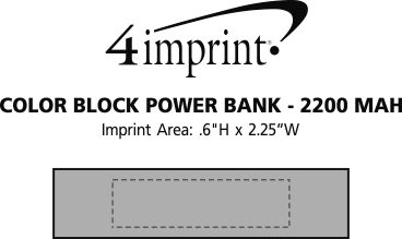 Imprint Area of Colorblock Power Bank