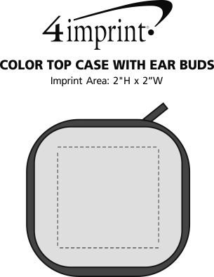 Imprint Area of Color Top Case with Ear Buds