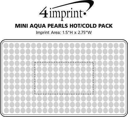 Imprint Area of Rectangle Aqua Pearls Hot/Cold Pack