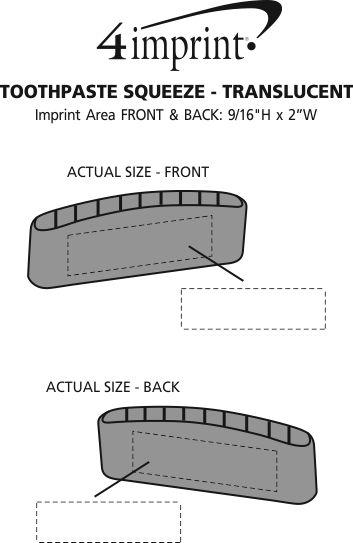 Imprint Area of Toothpaste Squeeze - Translucent