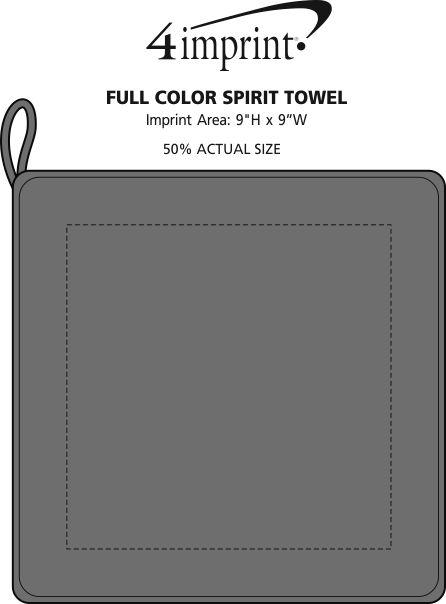 Imprint Area of Full Color Spirit Towel