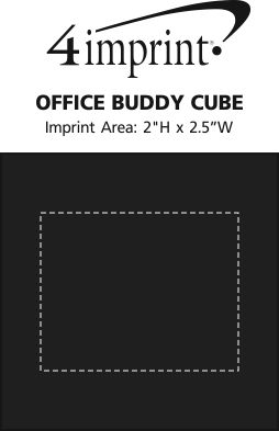 Imprint Area of Office Buddy Cube