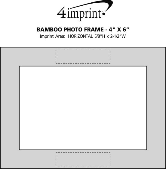 "Imprint Area of Bamboo Photo Frame - 4"" x 6"""