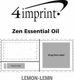 Imprint Area of Zen Essential Oil - Lemon