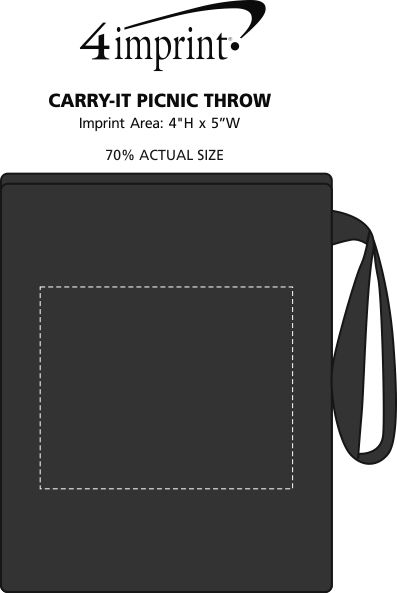 Imprint Area of Carry-It Picnic Throw