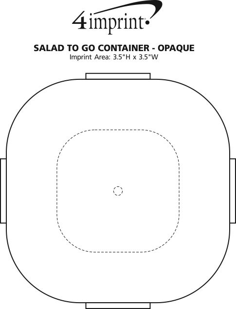 Imprint Area of Salad-To-Go Container - Opaque