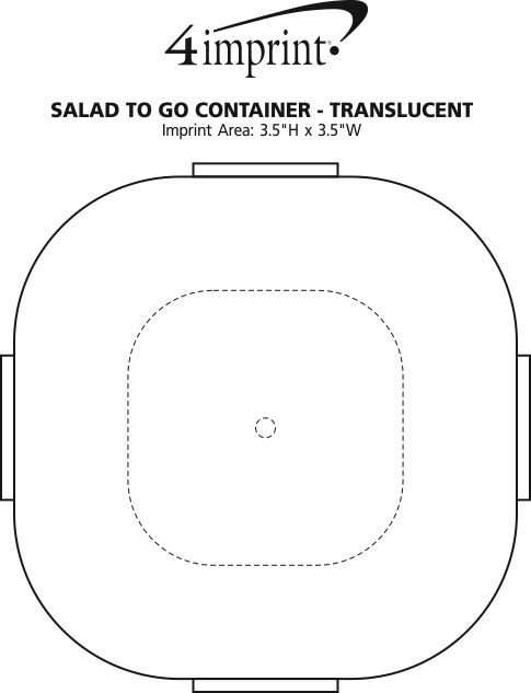 Imprint Area of Salad-To-Go Container - Translucent