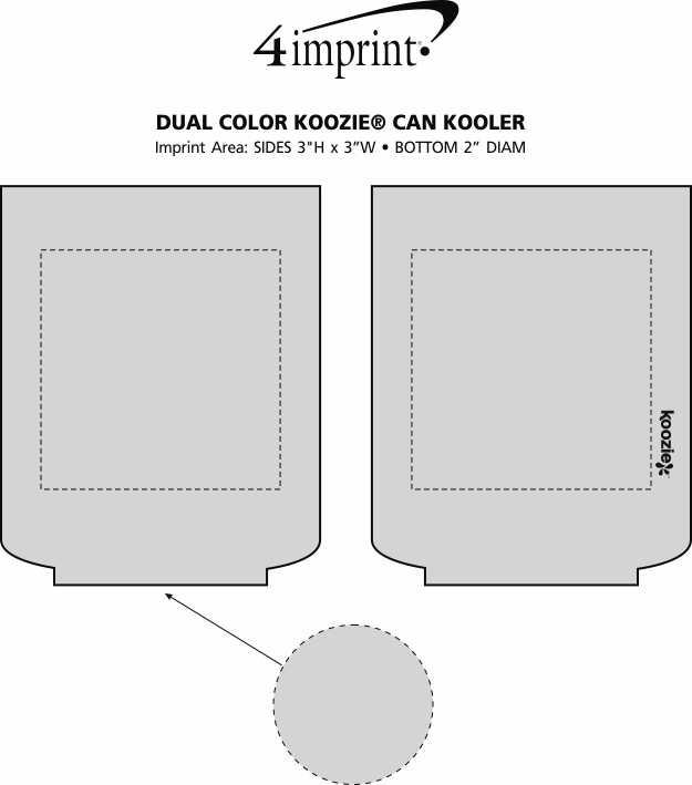 Imprint Area of Dual Color Koozie® Can Kooler