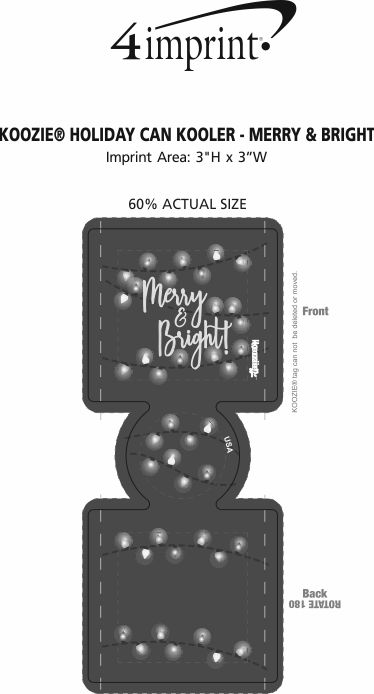 Imprint Area of Koozie® Holiday Can Kooler - Merry & Bright