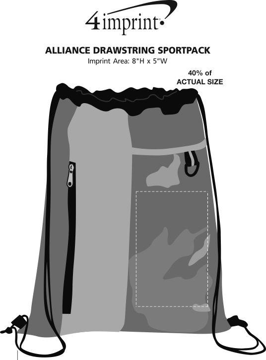 Imprint Area of Alliance Drawstring Sportpack