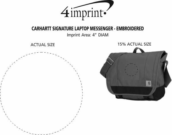 Imprint Area of Carhartt Signature Laptop Messenger - Embroidered