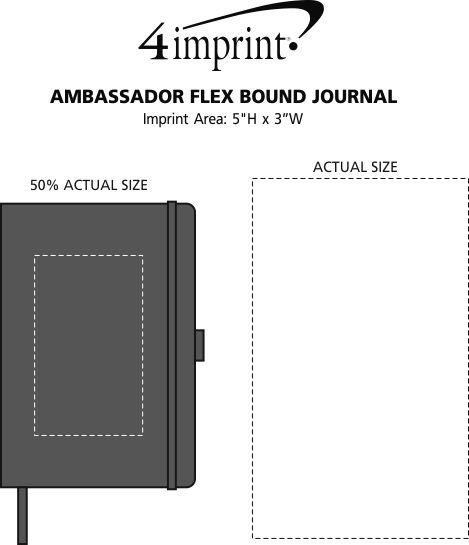 Imprint Area of Ambassador Flex Bound Journal