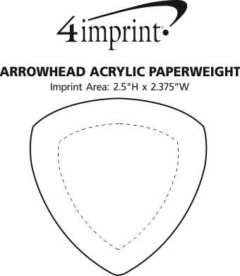 Imprint Area of Arrowhead Acrylic Paperweight