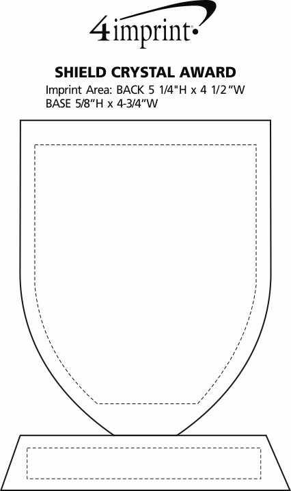 Imprint Area of Shield Crystal Award