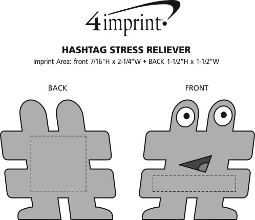 Imprint Area of Hashtag Stress Reliever