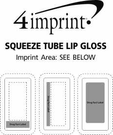 Imprint Area of Squeeze Tube Lip Gloss