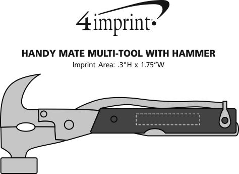 Imprint Area of Handy Mate Multi-Tool with Hammer