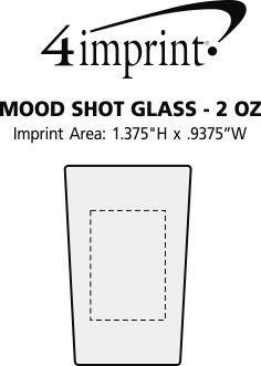 Imprint Area of Mood Shot Glass - 2 oz.