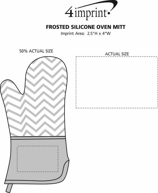 Imprint Area of Frosted Silicone Oven Mitt