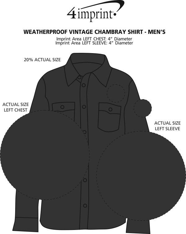 Imprint Area of Weatherproof Vintage Chambray Shirt - Men's'