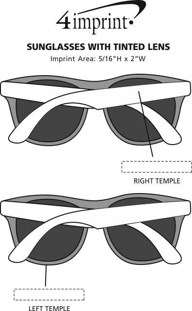 Imprint Area of Sunglasses with Tinted Lens