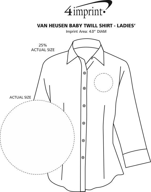 Imprint Area of Van Heusen Baby Twill Shirt - Ladies'