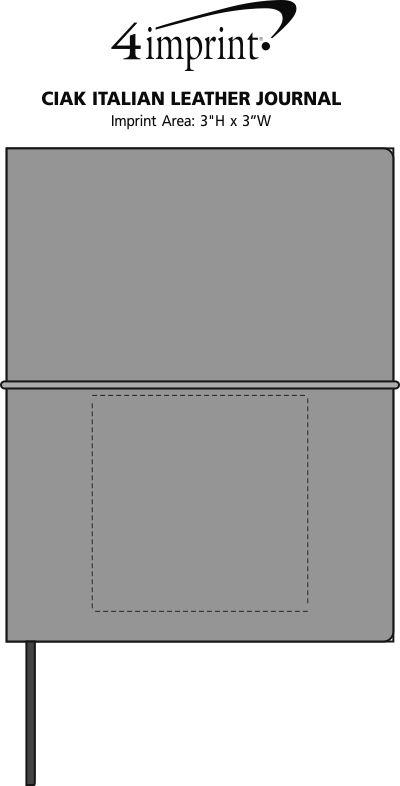 Imprint Area of Ciak Italian Leather Journal