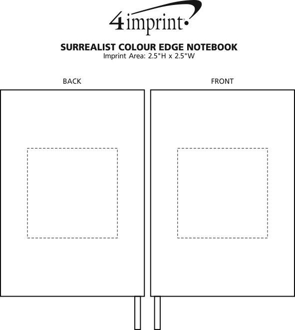 Imprint Area of Surrealist Color Edge Notebook
