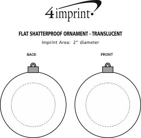 Imprint Area of Flat Shatterproof Ornament - Translucent