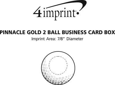 Imprint Area of Pinnacle Rush 2 Ball Business Card Box