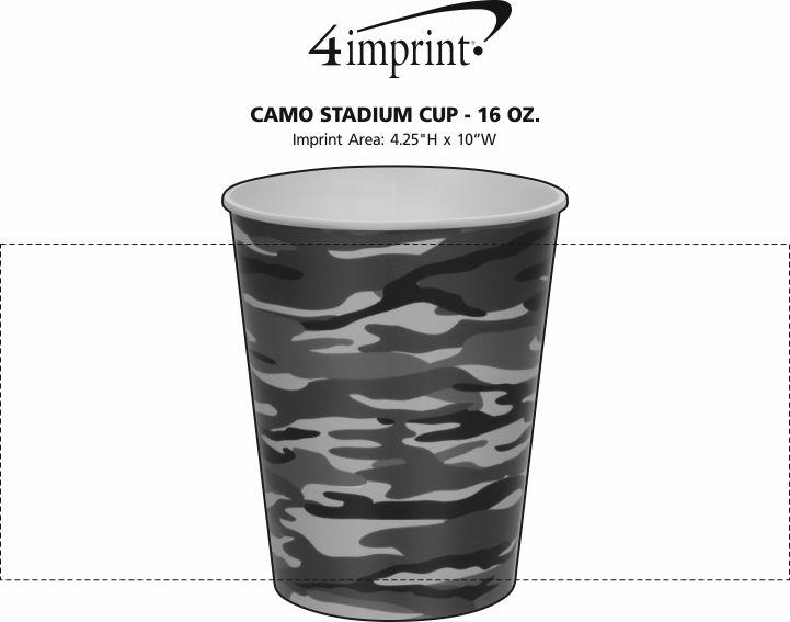 Imprint Area of Camo Stadium Cup - 16 oz.