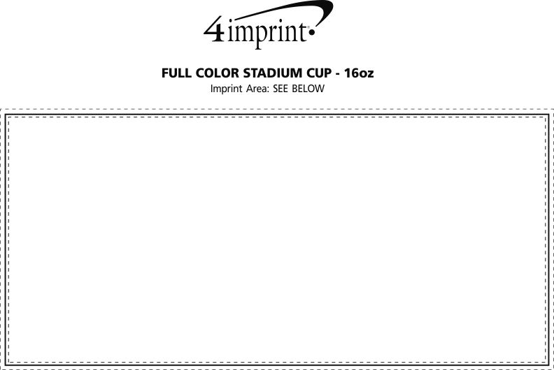 Imprint Area of Full Color Stadium Cup - 16 oz.