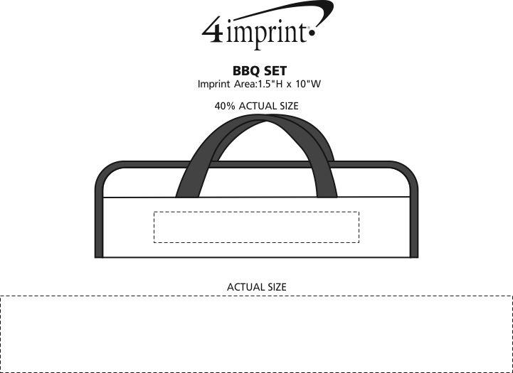 Imprint Area of BBQ Set