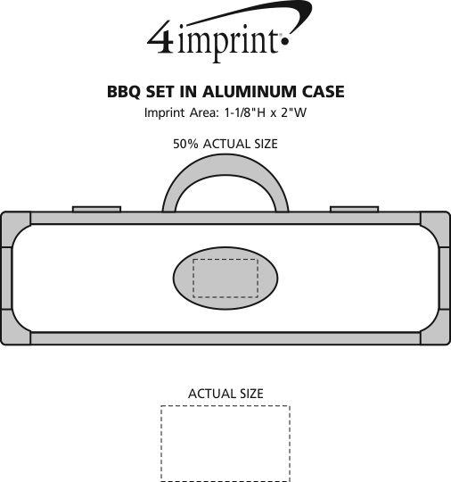 Imprint Area of BBQ Set in Aluminum Case