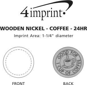 Imprint Area of Wooden Nickel - Coffee - 24 hr