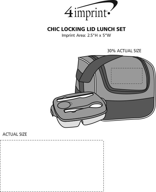 Imprint Area of Chic Locking Lid Lunch Set