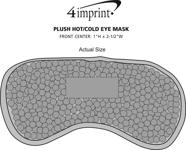 Imprint Area of Plush Hot/Cold Eye Mask