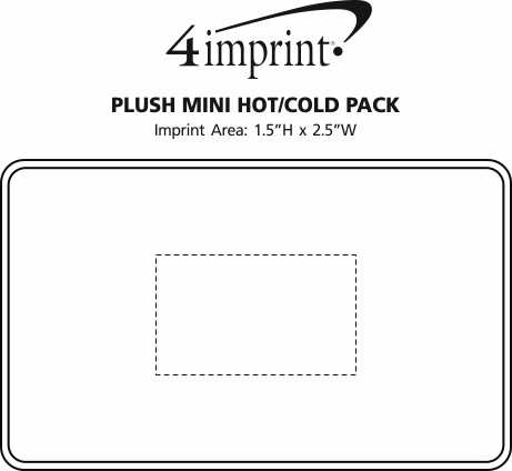 Imprint Area of Plush Mini Hot/Cold Pack