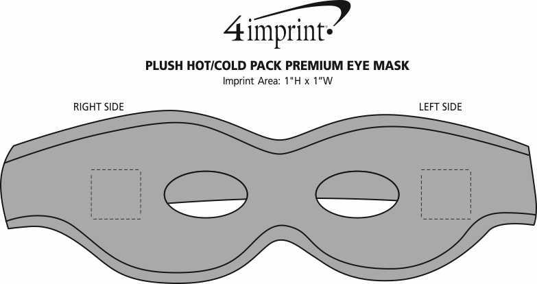Imprint Area of Plush Hot/Cold Pack Premium Eye Mask